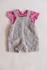 Baby Boys Two Piece Set - Tees & Dungarees