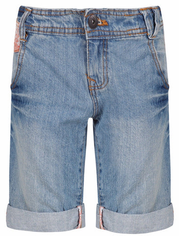 Dognose Festival Awakening Girls Denim Bermuda Shorts