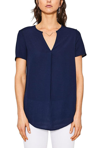 Esprit Womens Navy Blue Top with Necklace