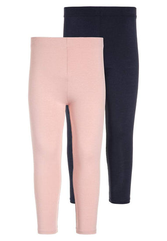 Young Dimension Girls 2 Pack Light Pink & Navy Leggings