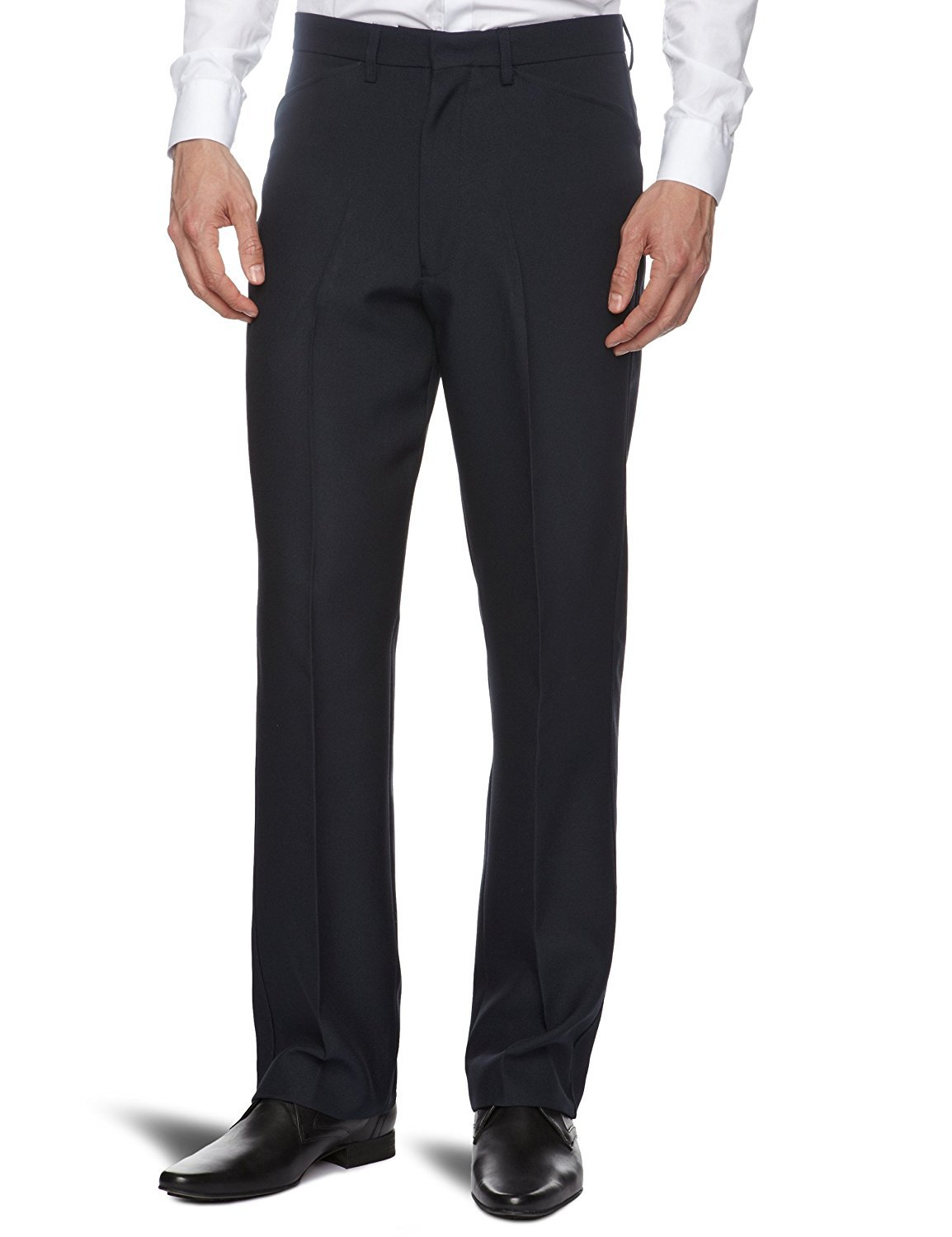 Farah Hopsack Straight Trousers - Stockpoint Apparel Outlet
