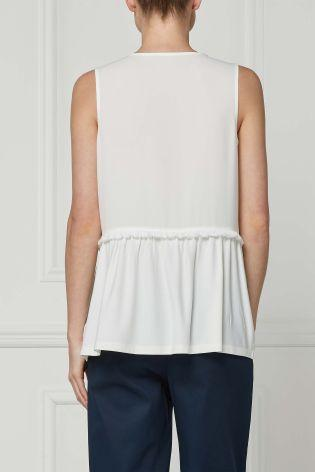 Next Fringe Detail Top Cream - Stockpoint Apparel Outlet
