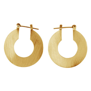 Front Row Gold Colour Flat Round Earrings - Stockpoint Apparel Outlet
