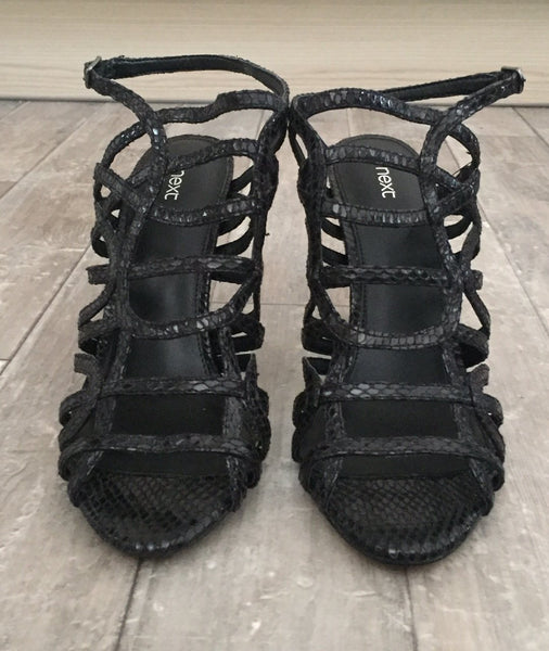 Next Black Caged Womens Sandals