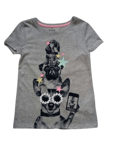 GAP Grey Cool Dogs T-Shirt - Stockpoint Apparel Outlet