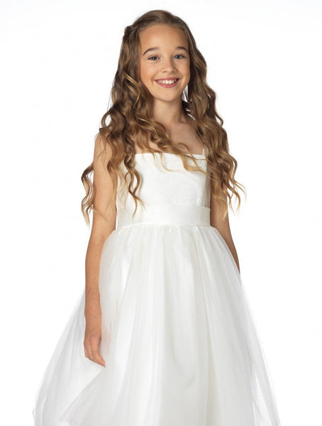 Paisley of London Collection - All Ivory Flower Girls Dress - Stockpoint Apparel Outlet