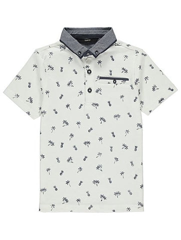 George Boys Tropical Smart Polo Shirt