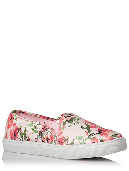George Womens Floral Print Skate Shoes