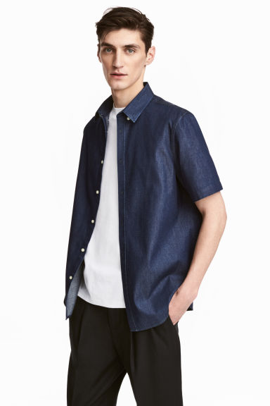 H&M Short-Sleeved Shirt Slim Fit - Stockpoint Apparel Outlet
