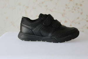 Boys Black Sporty Micro-Fresh® 2 Strap School Shoes
