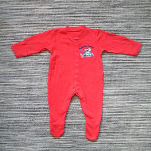 Baby Boys Red Sleepsuit