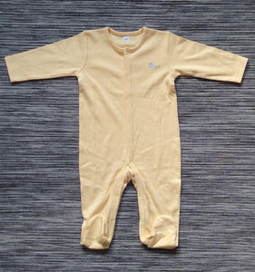 Baby Boys Yellow Sleepsuit