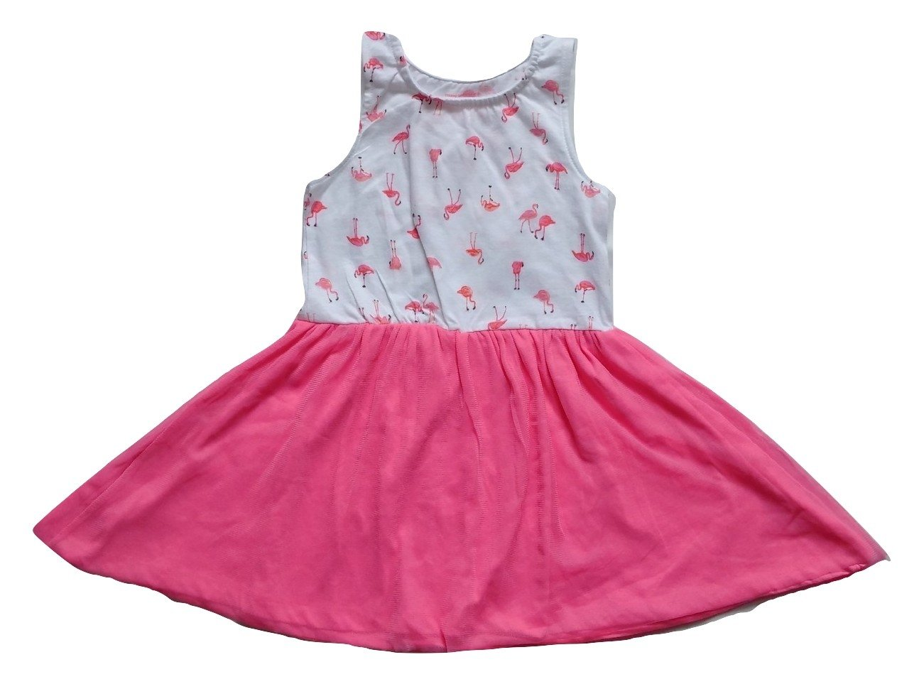 Young Dimension Flamingo Design Baby Girls Dress - Stockpoint Apparel Outlet