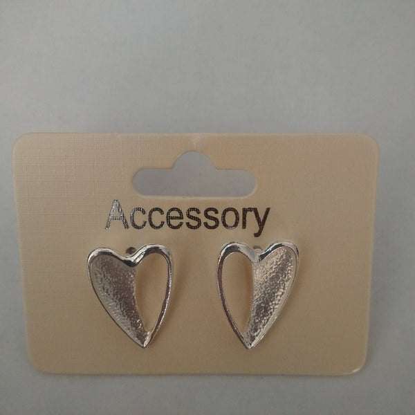 Heart Shaped Silver Earrings