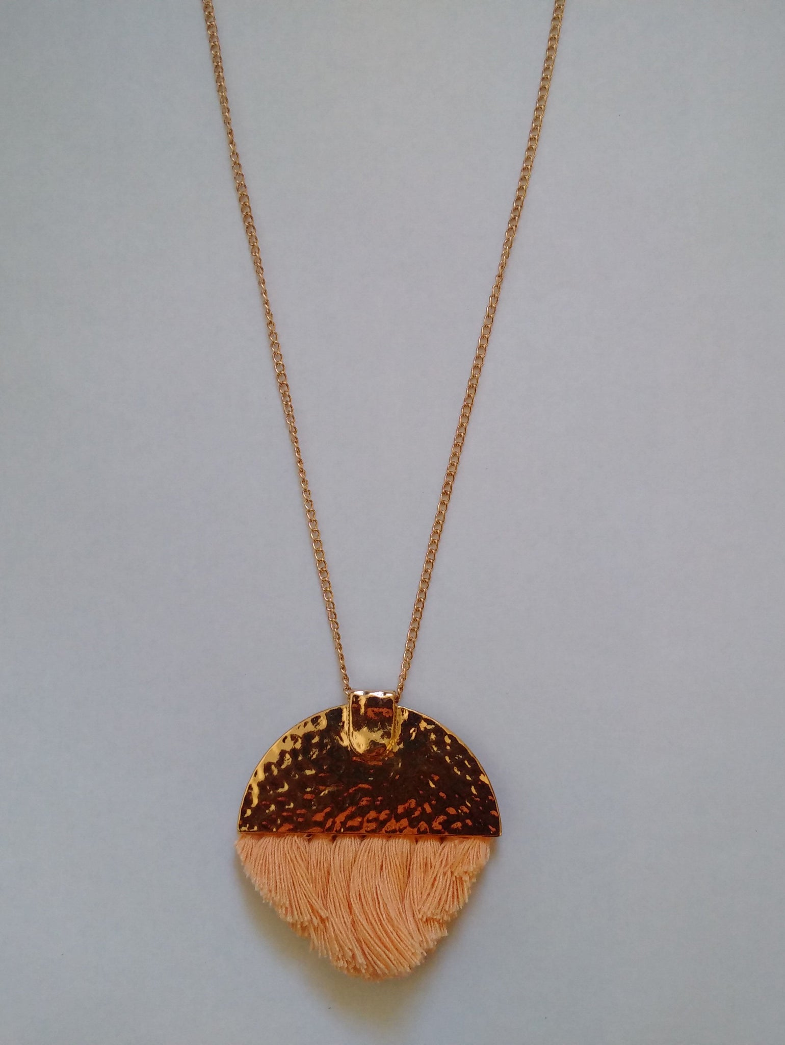 Half Moon Tassel Necklace - Stockpoint Apparel Outlet