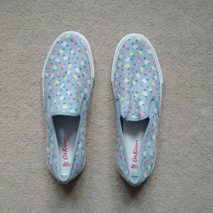 Cath Kidston Womens /Girls Prime Rose Fields Smart Slip on Trainers