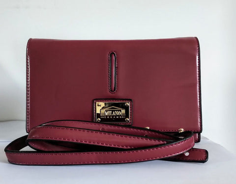 Milano Dreams Womens Bordeaux Cross Body Bag