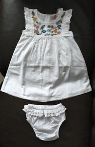 Cath Kidston Baby EMB Dress with Frill & Brief