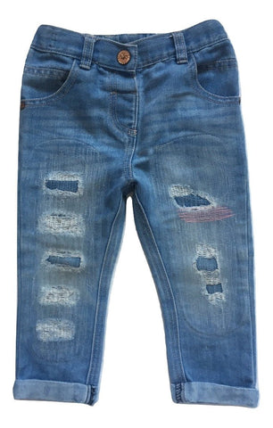 Next Blue Rip & Repair Jeans - Stockpoint Apparel Outlet
