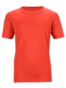 James Nicholson Kids Unisex Active Sports T-Shirt Grenadine - Stockpoint Apparel Outlet