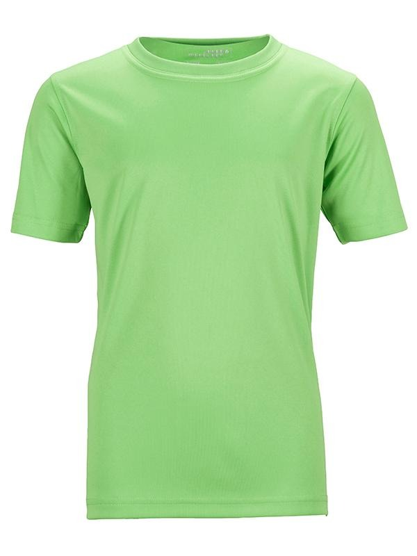 James Nicholson Kids Unisex Active Sports T-Shirt  Lime Green - Stockpoint Apparel Outlet