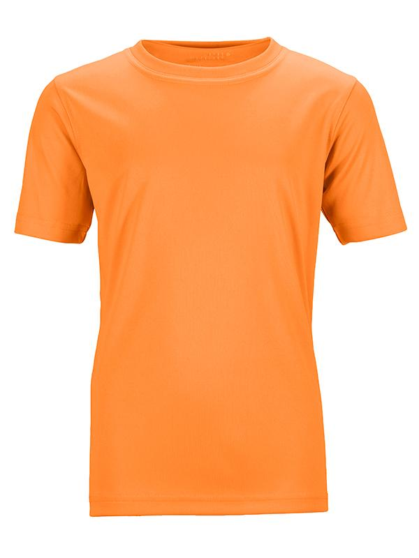James Nicholson Kids Unisex Active Sports T-Shirt Orange - Stockpoint Apparel Outlet