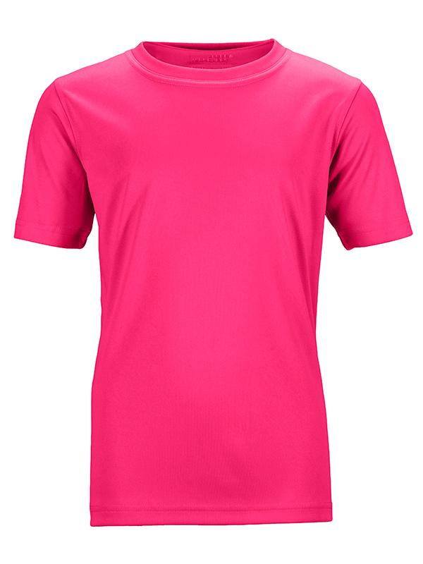 James Nicholson Kids Unisex Active Sports T-Shirt Pink - Stockpoint Apparel Outlet