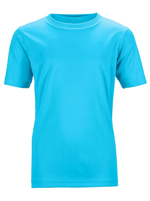 James Nicholson Kids Unisex Active Sports T-Shirt Turquoise - Stockpoint Apparel Outlet