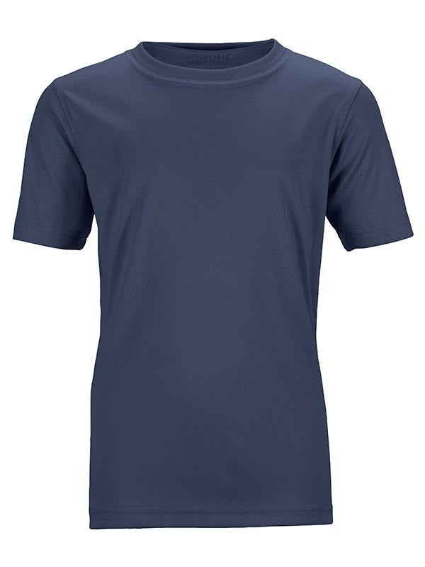 James Nicholson Kids Unisex Active Sports T-Shirt Navy - Stockpoint Apparel Outlet