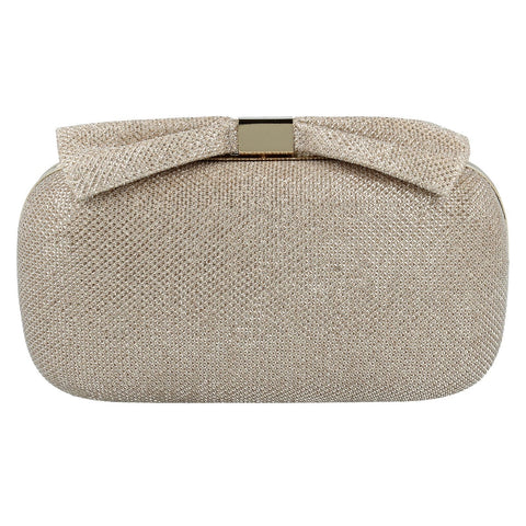 Ella Womens Gold Clutch Bag