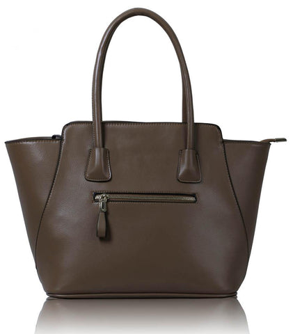 L&S Nude Grab Womens Shoulder Handbag