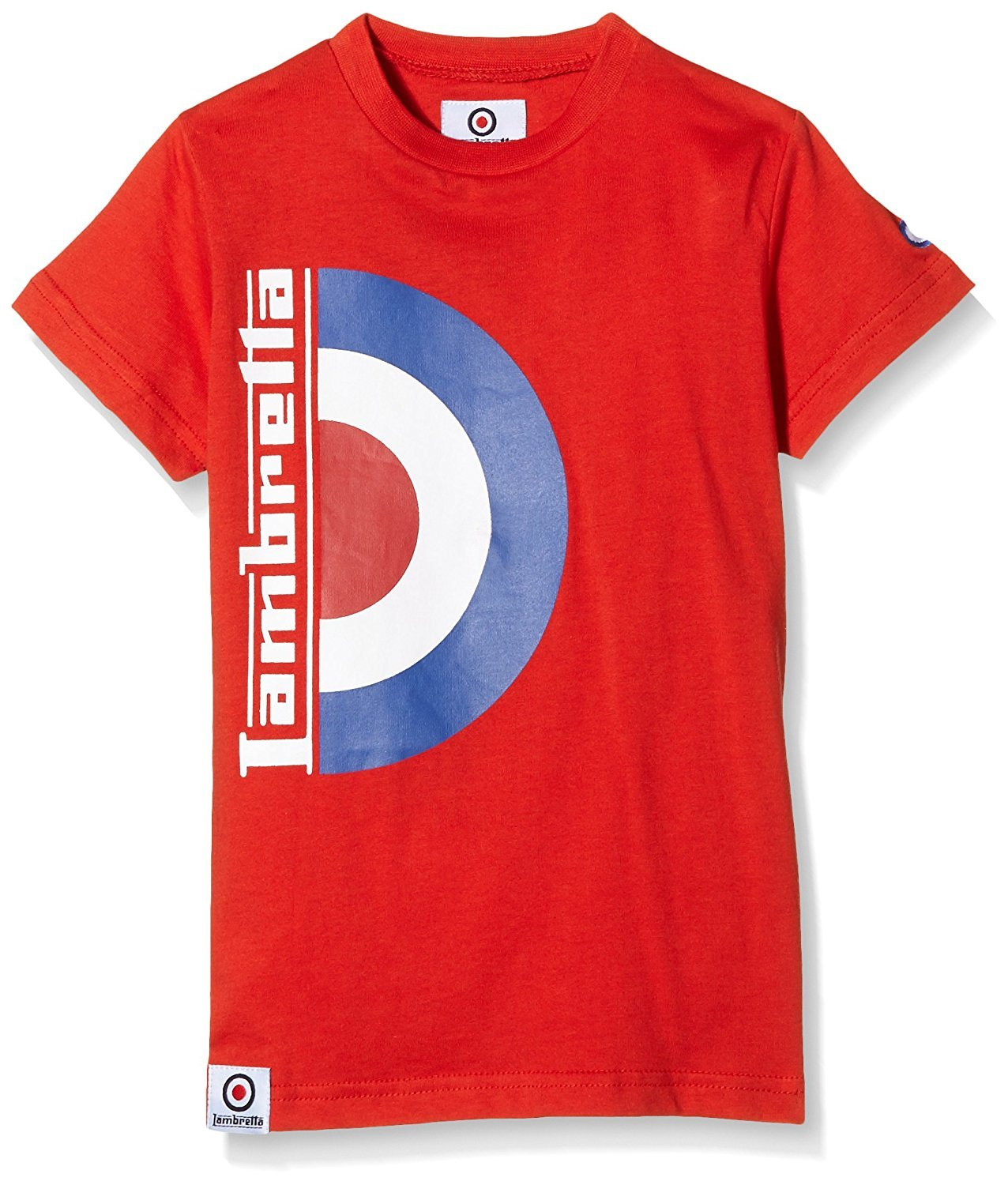 Lambretta Boy's Half Tee T-Shirt Red - Stockpoint Apparel Outlet