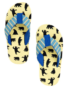 Little Blue House by Hatley Bears Kids' Flip Flops