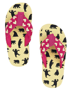 Little Blue House by Hatley Pretty Bears Kids' Flip Flops