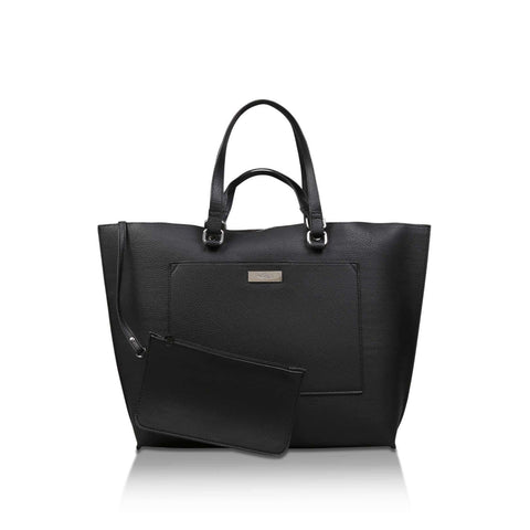 Millie by Solea Womens Black Shopper Bag