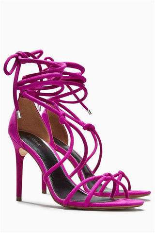 Next Womens Magenta Glam Heel Sandals