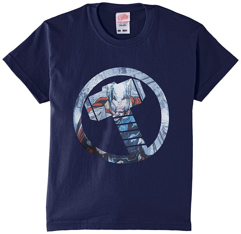Marvel Boy's Avengers Assemble Thor Montage Symbol Short Sleeve T-Shirt - Stockpoint Apparel Outlet