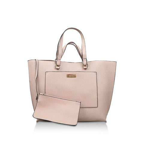 Millie by Solea Womens Taupe Shopper Bag