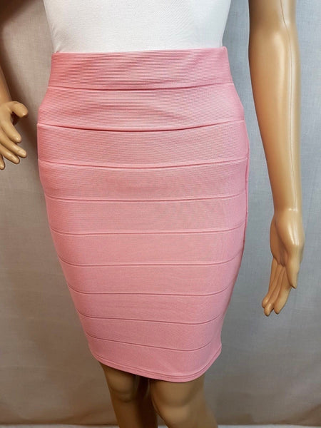 Miss Selfridge Womens Pink Bandage Skirt