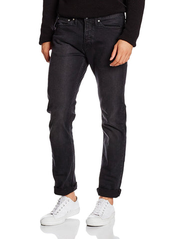 New Look Mens Drake Black Washed Slim Jeans