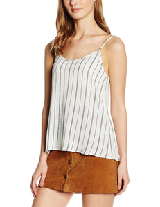 New Look Pin Stripe High Neck Sleeveless Camisole/Top - Stockpoint Apparel Outlet