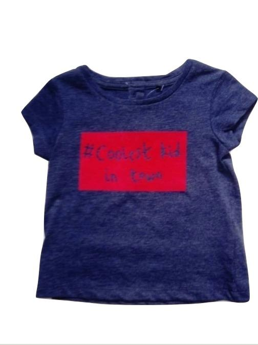 "Next ""Coolest Kid in Town Blue Baby Girls T-Shirt"
