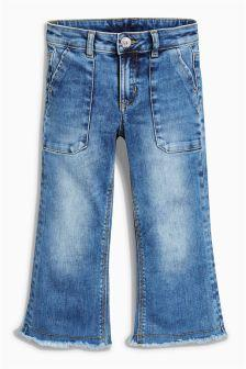 Next Girls Blue Flare Jeans
