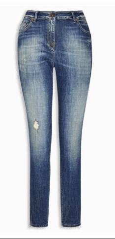 Next Skinny Dark Blue Ankle Zip  Womens Jeans