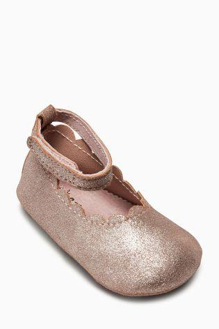 Next Baby Girls Pink Mary Jane Pram Shoes