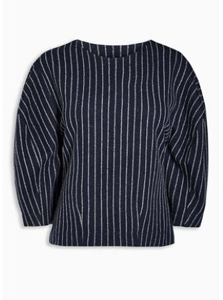 Next Navy Pinstripe Top - Stockpoint Apparel Outlet