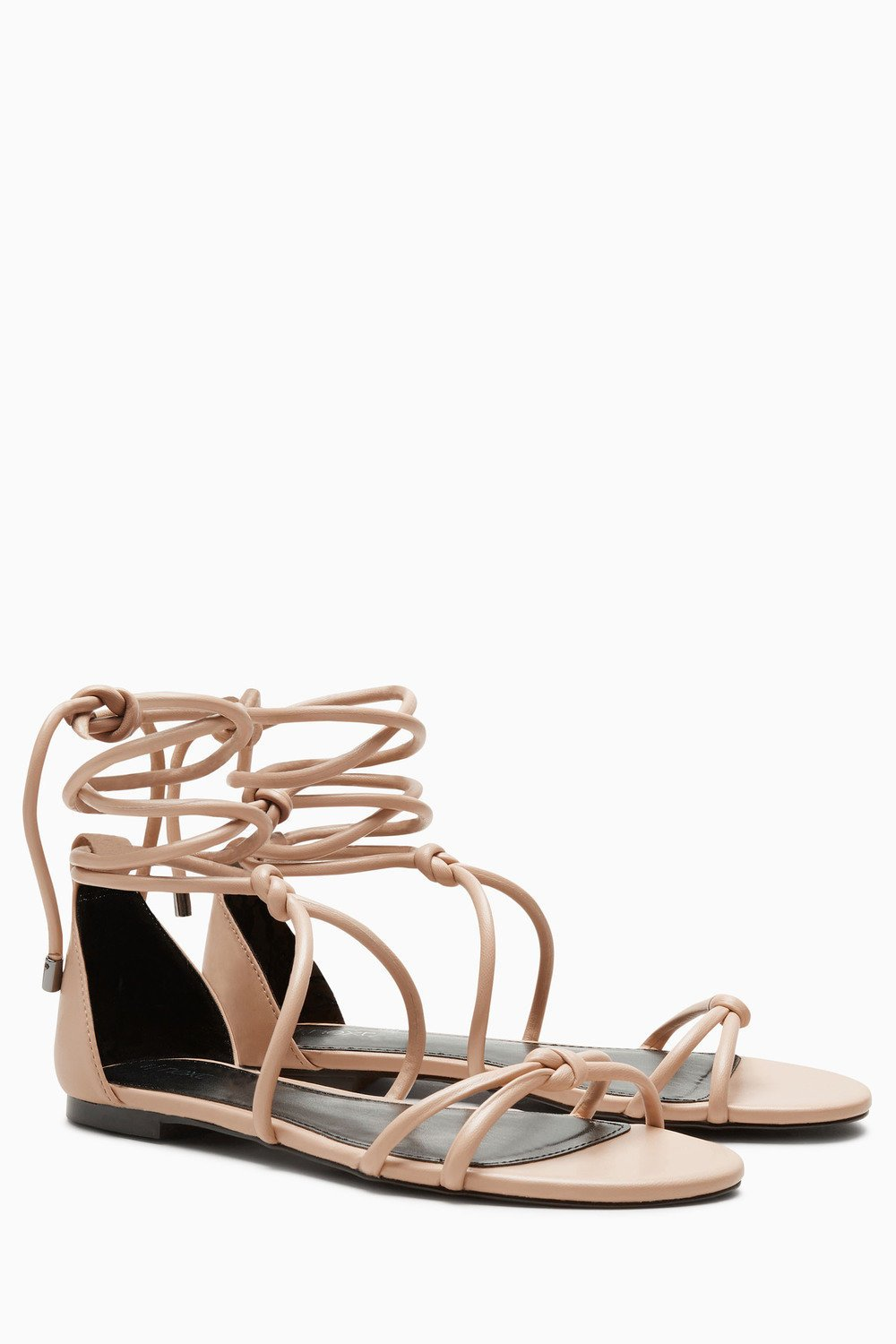 Next Womens/Girls Nude Tube Knot Sandals