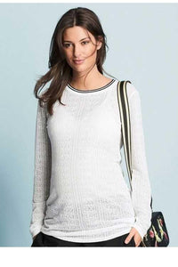 Next White Maternity Sport Ponte Top - Stockpoint Apparel Outlet