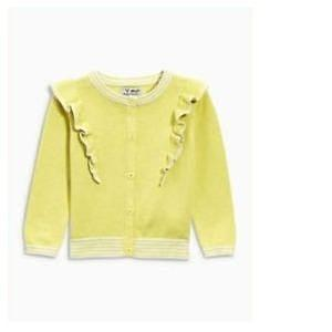 Next Yellow Ruffle Baby Girls Cardigan