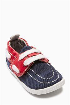 Next Blue/Red Pram Shoes - Stockpoint Apparel Outlet